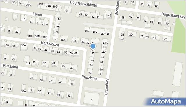 Białystok, Karłowicza Mieczysława, 45, mapa Białegostoku