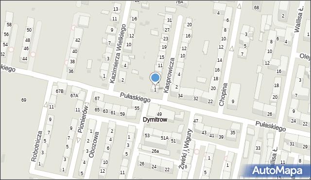 Bytom, Kasprowicza Jana, 1, mapa Bytomia