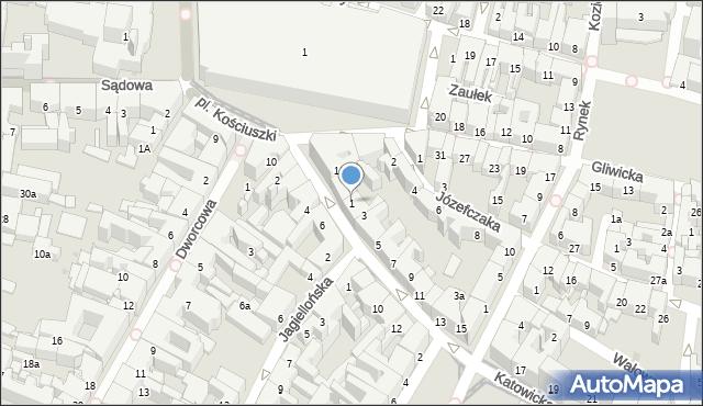 Bytom, Katowicka, 1, mapa Bytomia
