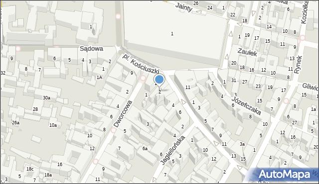 Bytom, Katowicka, 2, mapa Bytomia