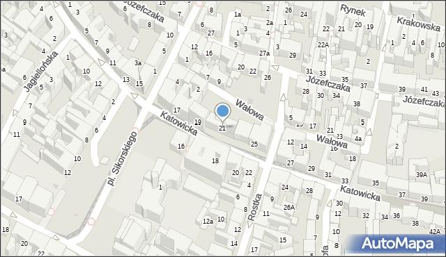 Bytom, Katowicka, 21, mapa Bytomia