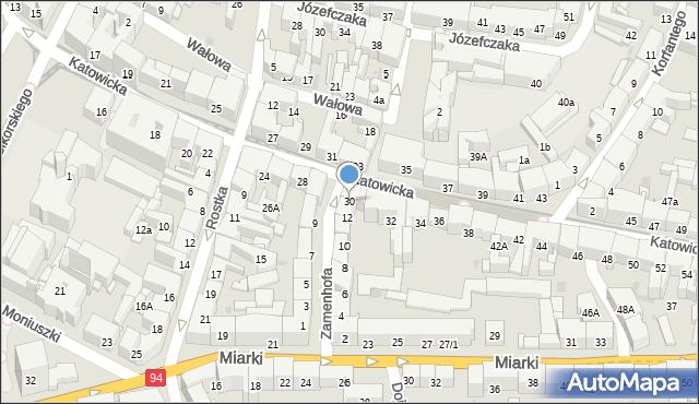 Bytom, Katowicka, 30, mapa Bytomia