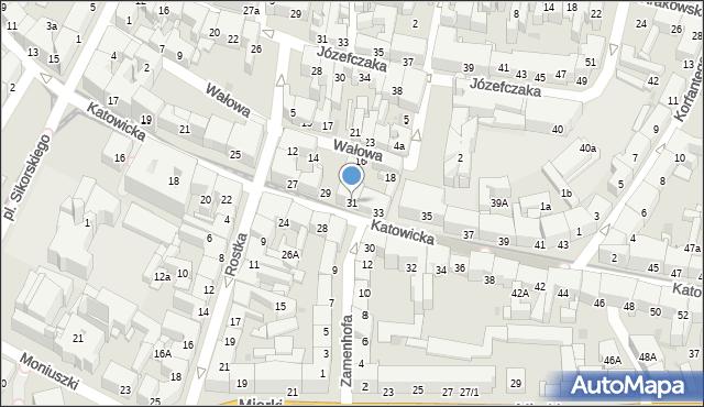 Bytom, Katowicka, 31, mapa Bytomia