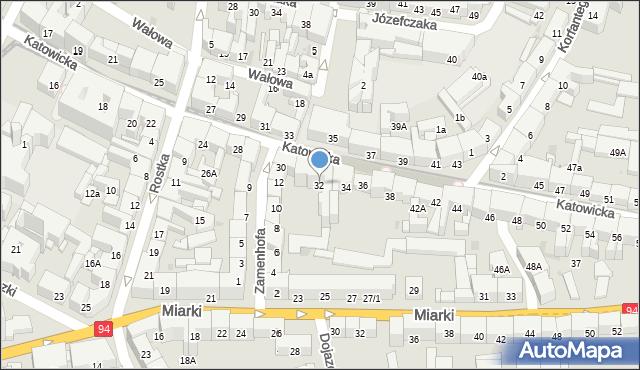 Bytom, Katowicka, 32, mapa Bytomia