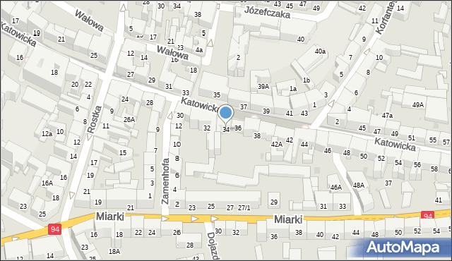 Bytom, Katowicka, 34, mapa Bytomia