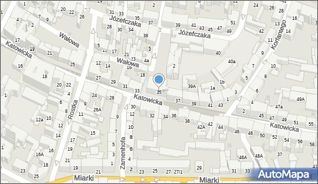 Bytom, Katowicka, 35, mapa Bytomia
