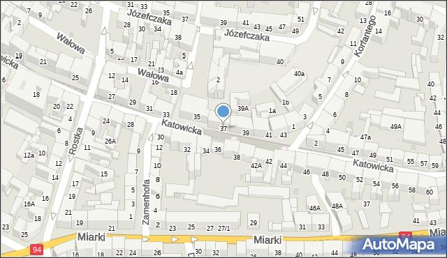 Bytom, Katowicka, 37, mapa Bytomia