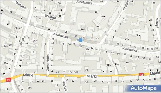 Bytom, Katowicka, 38, mapa Bytomia