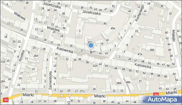 Bytom, Katowicka, 39, mapa Bytomia