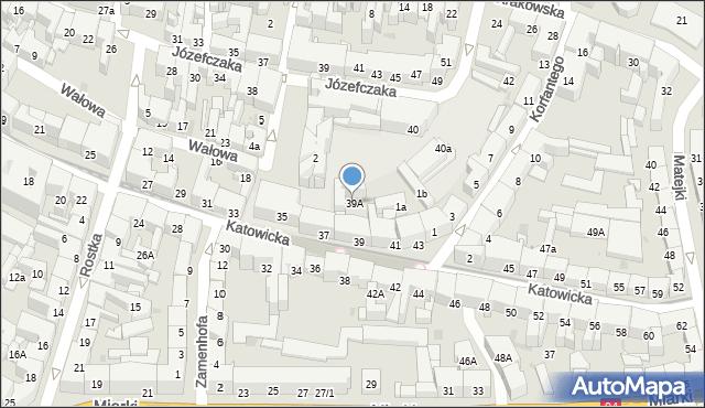 Bytom, Katowicka, 39A, mapa Bytomia