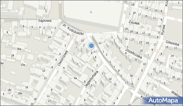 Bytom, Katowicka, 4, mapa Bytomia