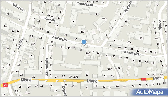 Bytom, Katowicka, 40, mapa Bytomia