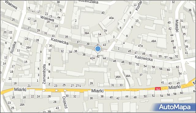 Bytom, Katowicka, 42, mapa Bytomia