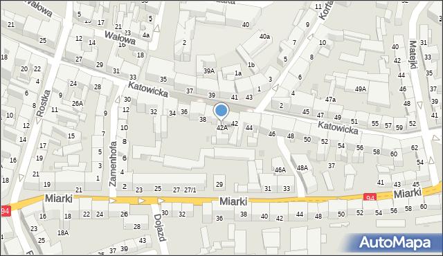 Bytom, Katowicka, 42A, mapa Bytomia