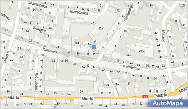 Bytom, Katowicka, 43, mapa Bytomia