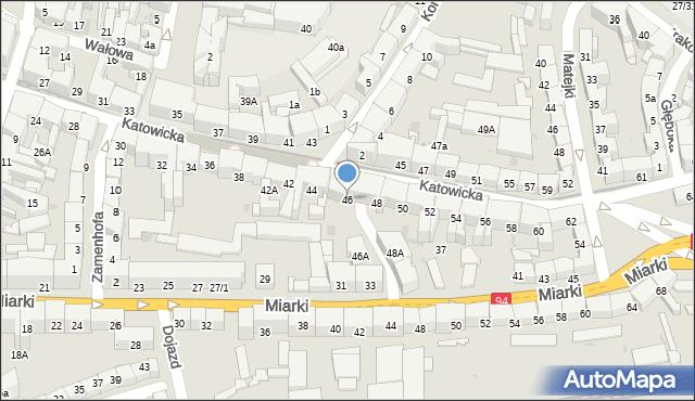 Bytom, Katowicka, 46, mapa Bytomia