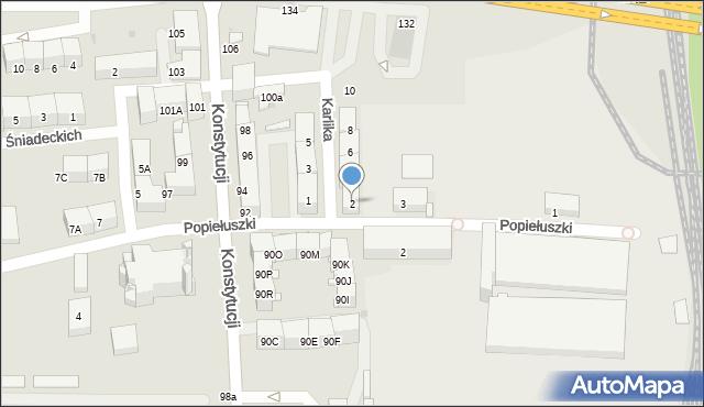 Bytom, Karlika, 2, mapa Bytomia