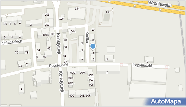 Bytom, Karlika, 4, mapa Bytomia