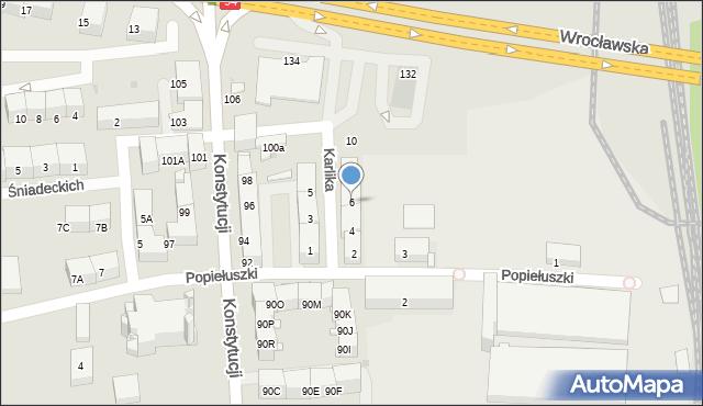 Bytom, Karlika, 6, mapa Bytomia