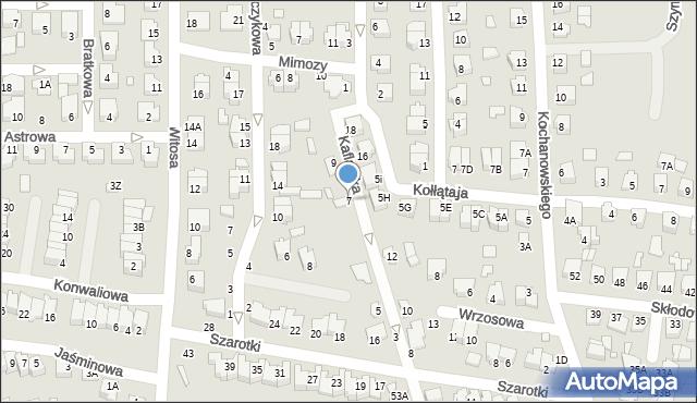 Chełm, Kaflarska, 7, mapa Chełma