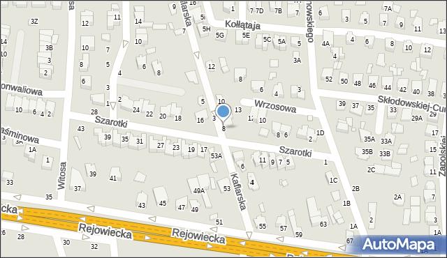 Chełm, Kaflarska, 8, mapa Chełma