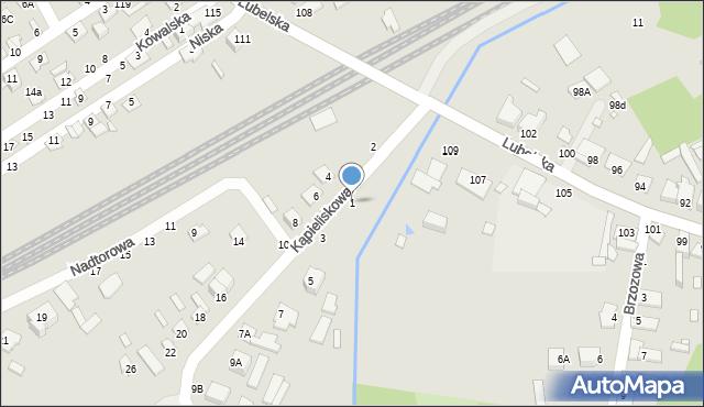 Chełm, Kąpieliskowa, 1, mapa Chełma