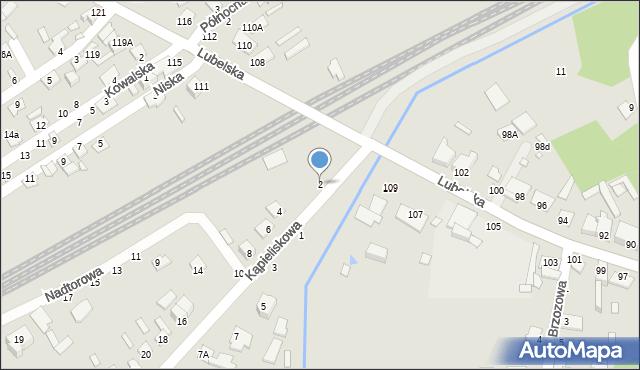 Chełm, Kąpieliskowa, 2, mapa Chełma