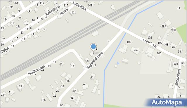 Chełm, Kąpieliskowa, 6, mapa Chełma