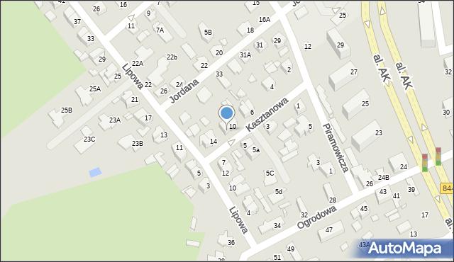 Chełm, Kasztanowa, 12, mapa Chełma