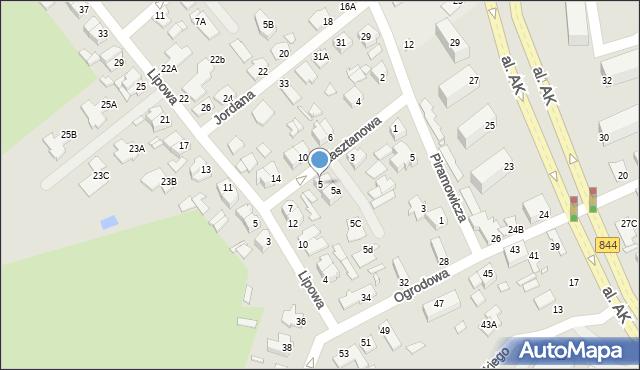 Chełm, Kasztanowa, 5, mapa Chełma
