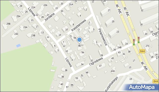 Chełm, Kasztanowa, 5C, mapa Chełma