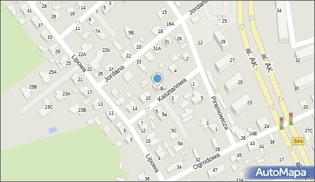 Chełm, Kasztanowa, 8, mapa Chełma