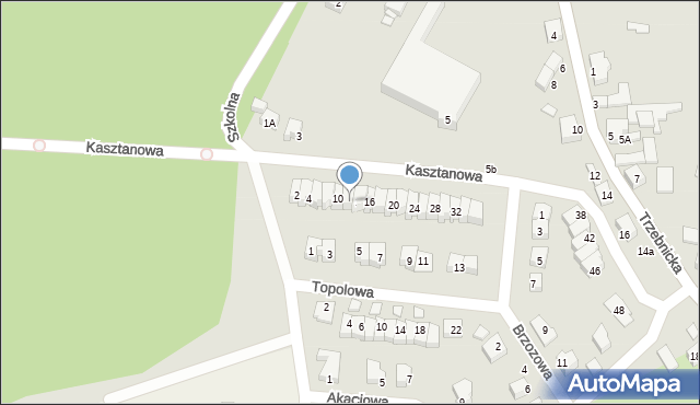 Chocianów, Kasztanowa, 12, mapa Chocianów