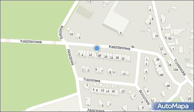 Chocianów, Kasztanowa, 14, mapa Chocianów
