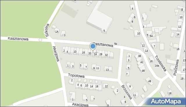 Chocianów, Kasztanowa, 22, mapa Chocianów