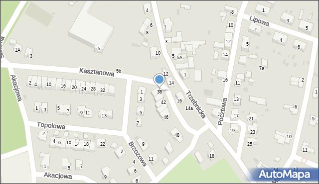 Chocianów, Kasztanowa, 38, mapa Chocianów