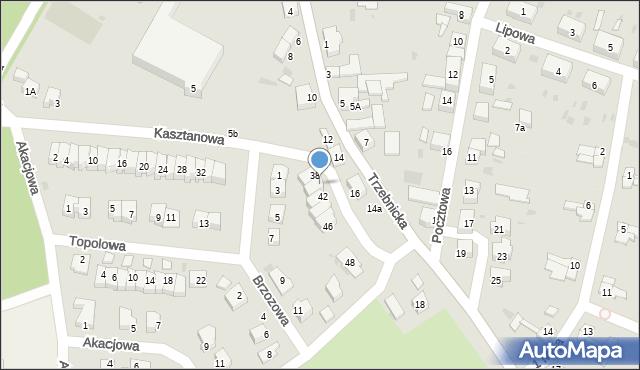 Chocianów, Kasztanowa, 40, mapa Chocianów