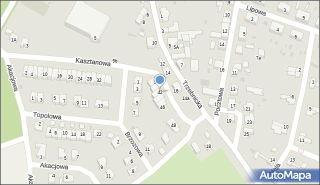 Chocianów, Kasztanowa, 42, mapa Chocianów