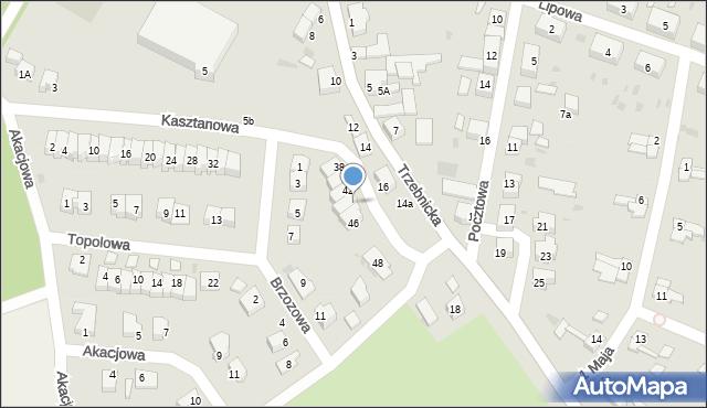 Chocianów, Kasztanowa, 44, mapa Chocianów