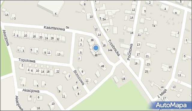 Chocianów, Kasztanowa, 46, mapa Chocianów