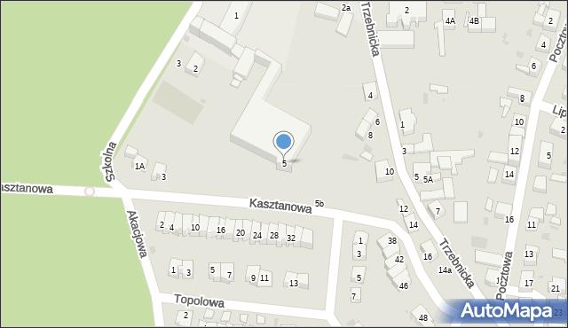 Chocianów, Kasztanowa, 5, mapa Chocianów