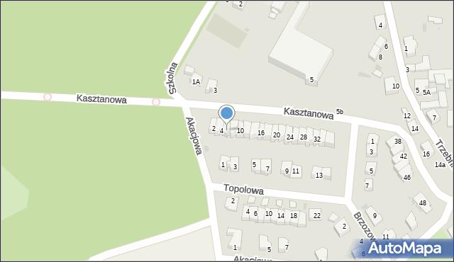 Chocianów, Kasztanowa, 6, mapa Chocianów