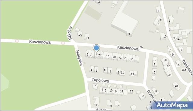 Chocianów, Kasztanowa, 8, mapa Chocianów