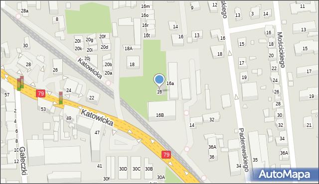 Chorzów, Katowicka, 16, mapa Chorzów