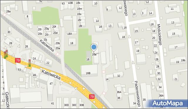 Chorzów, Katowicka, 16a, mapa Chorzów