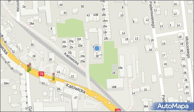 Chorzów, Katowicka, 18, mapa Chorzów
