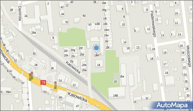 Chorzów, Katowicka, 18A, mapa Chorzów