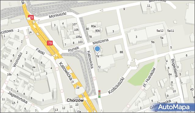 Chorzów, Katowicka, 74, mapa Chorzów