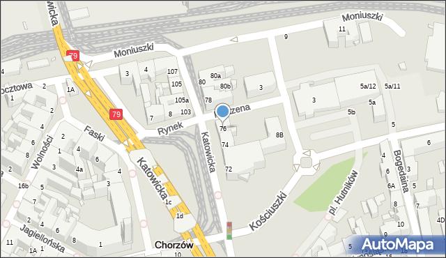 Chorzów, Katowicka, 76, mapa Chorzów