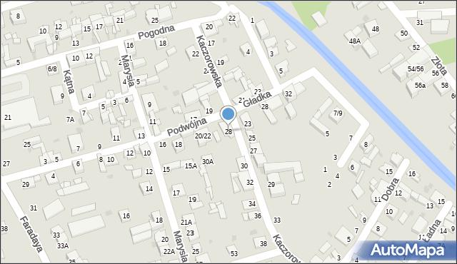 Częstochowa, Kaczorowska, 28, mapa Częstochowy